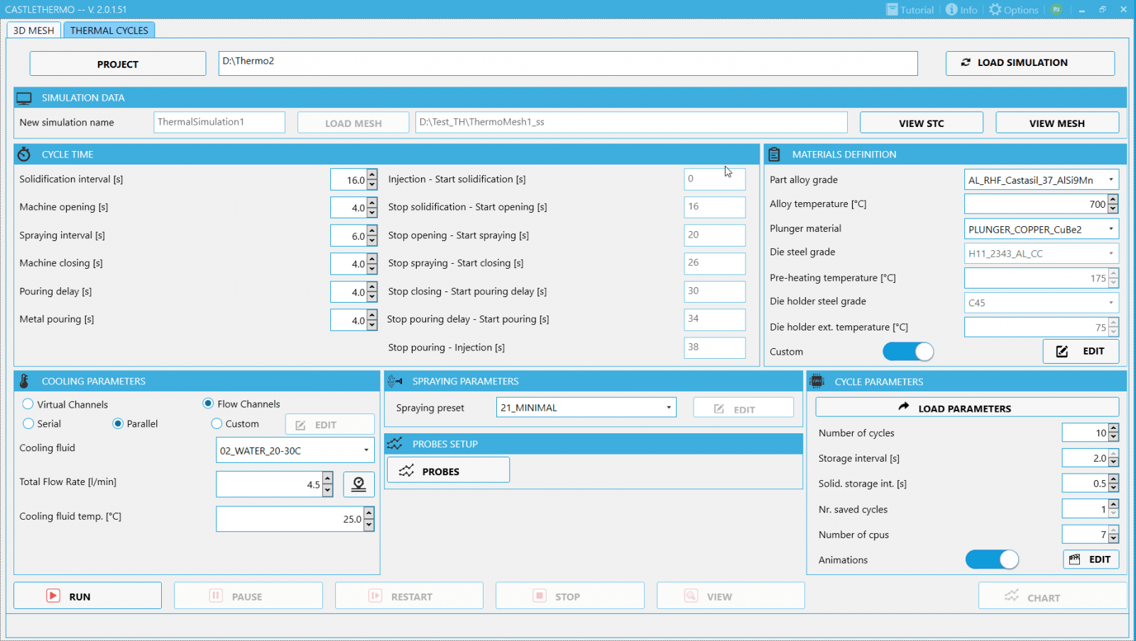 CastleTHERMO: User Friendly Interface